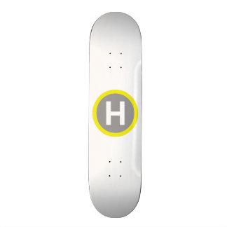 Helipad Sign Skateboard Deck