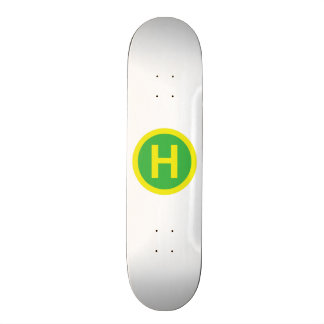 Helipad Sign Skateboard Deck