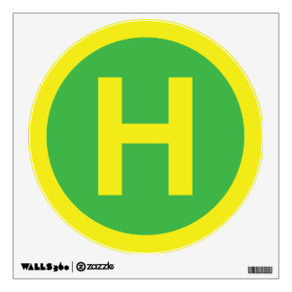 Helipad Sign Wall Sticker