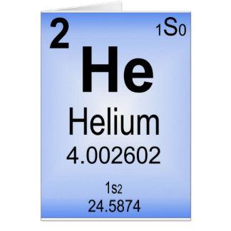 Helium Greeting Card