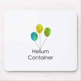 Helium Container Blue Yellow Green Mouse Pad