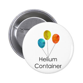 Helium Container Blue Yellow Red 2 Inch Round Button