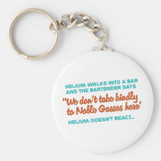 Helium Doesn't React Basic Round Button Keychain