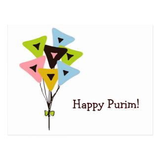 Helium Hamantaschen, Happy Purim! Postcard