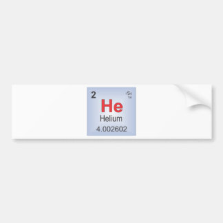 Helium Individual Element of the Periodic Table Bumper Stickers