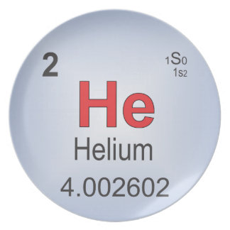 Helium Individual Element of the Periodic Table Dinner Plate