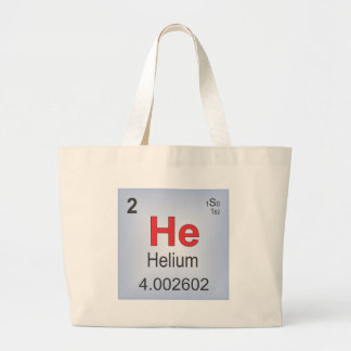 Helium Individual Element of the Periodic Table Large Tote Bag