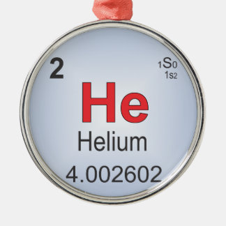 Helium Individual Element of the Periodic Table Metal Ornament