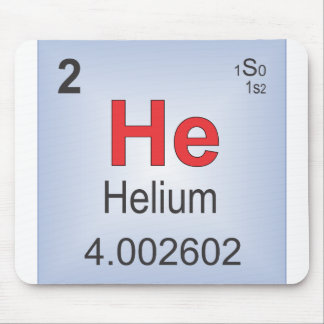 Helium Individual Element of the Periodic Table Mouse Pad