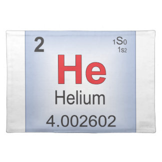 Helium Individual Element of the Periodic Table Placemat
