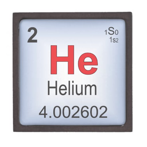 Helium Individual Element Of The Periodic Table Premium