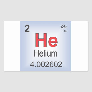 Helium Individual Element of the Periodic Table Rectangular Sticker