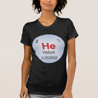 Helium Individual Element of the Periodic Table T Shirt