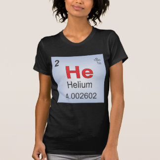 Helium Individual Element of the Periodic Table Tee Shirt
