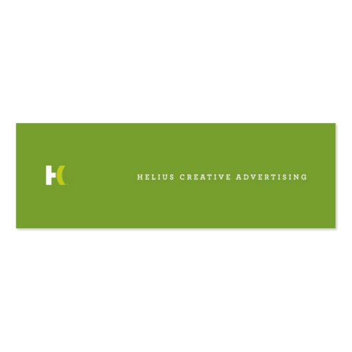 Helius Creative :: Social Networking Skinny Cards Business Cards
