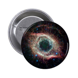 Helix in Infrared 2 Inch Round Button
