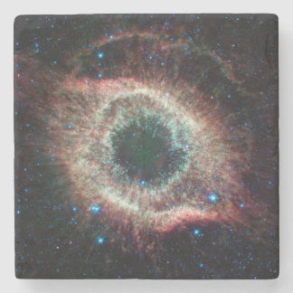 Helix in Infrared Stone Beverage Coaster