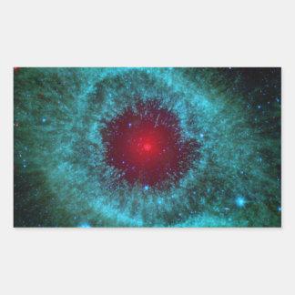 helix-nebula-11156 planetary fog, constellation aq rectangular sticker