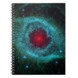 Helix Nebula, Beautiful Stars in the Galaxy Spiral Notebook