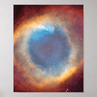 Helix Nebula by Hubble Poster
