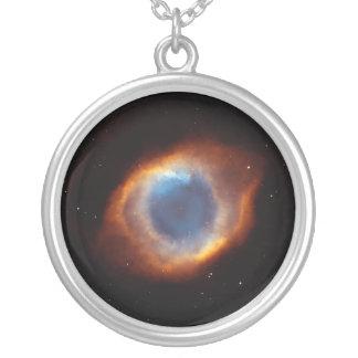 """Helix Nebula """"Eye of God"""" Hubble Telescope Round Pendant Necklace"""