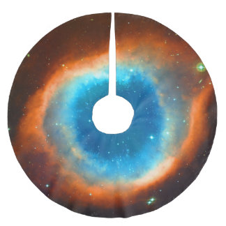 Helix Nebula, Eye of God outer space picture Brushed Polyester Tree Skirt