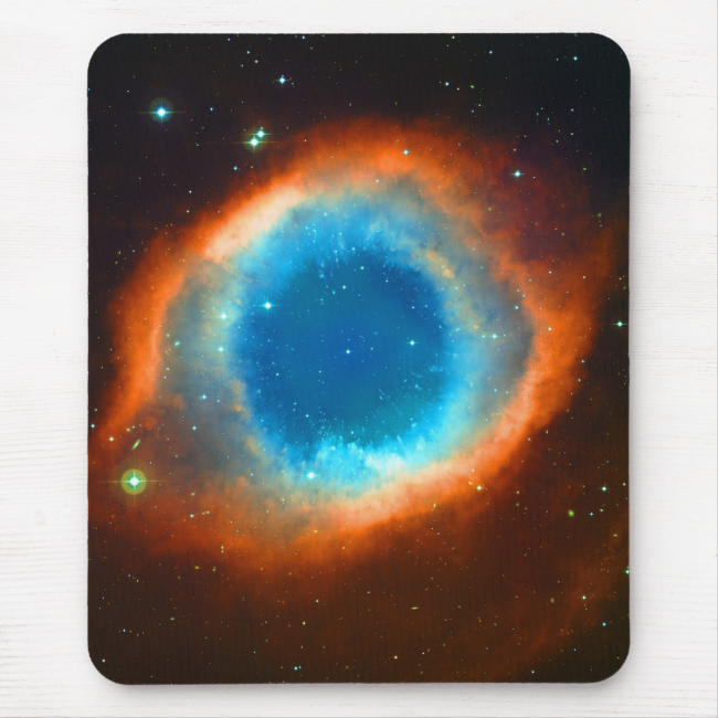 Helix Nebula, Galaxies and Stars Mouse Pad