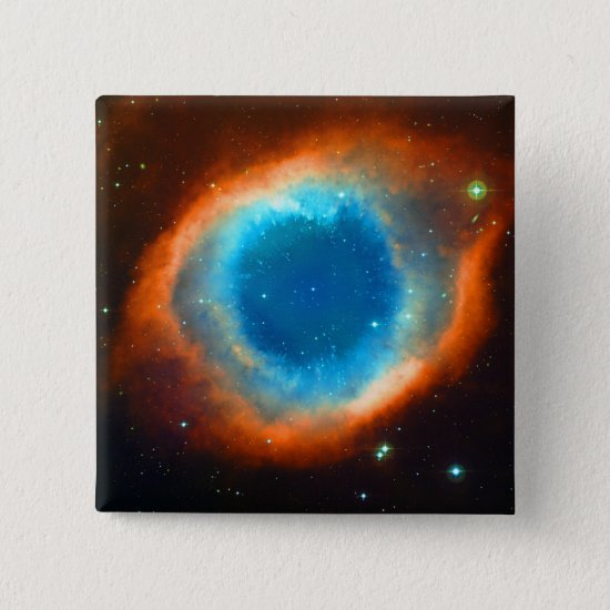Helix Nebula, Galaxies and Stars Pinback Button