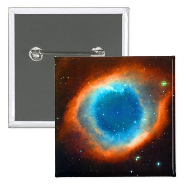 Helix Nebula, Galaxies and Stars Pinback Button