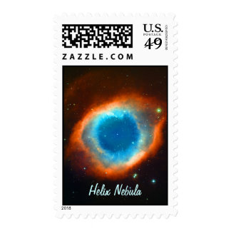 Helix Nebula, Galaxies and Stars Postage