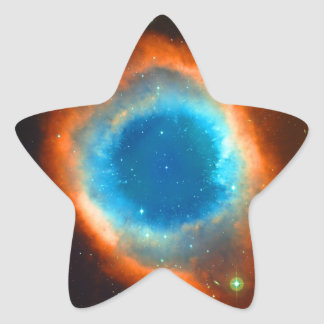 Helix Nebula, Galaxies and Stars Star Sticker