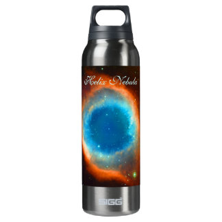 Helix Nebula, Galaxies and Stars Thermos Water Bottle