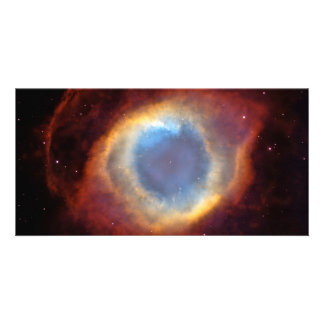 Helix Nebula Hubble Space Astronomy Personalized Photo Card
