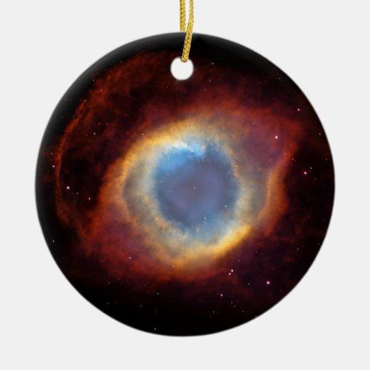 Helix Nebula (Hubble Telescope) Ceramic Ornament
