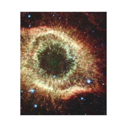 Helix Nebula in infrared Canvas Print