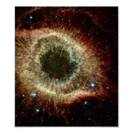 Helix Nebula in infrared Poster