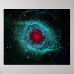 Helix Nebula Infrared Poster