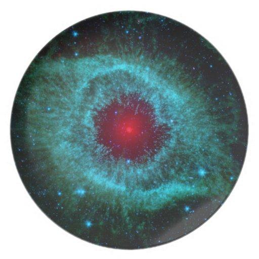 Helix Nebula Infrared Spitzer Dinner Plate
