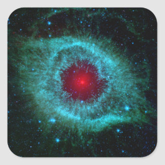 Helix Nebula Infrared Spitzer Square Sticker
