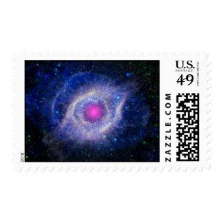 Helix Nebula NASA Purple Postage Stamp