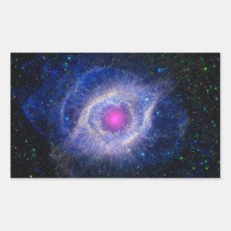 Helix Nebula NASA Purple Rectangular Sticker
