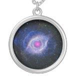 Helix Nebula NASA Purple Round Pendant Necklace