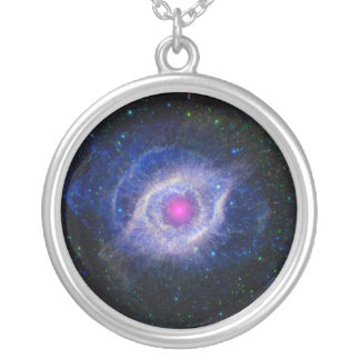 Helix Nebula NASA Purple Silver Plated Necklace