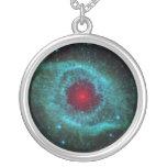 Helix Nebula Round Pendant Necklace