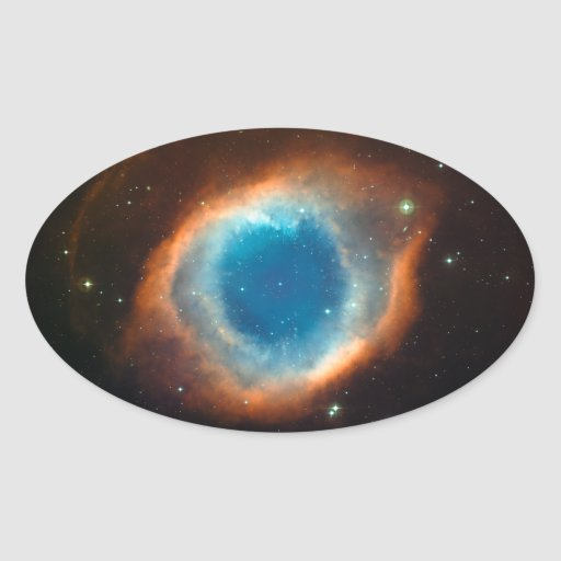 Helix Nebula Space Astronomy Oval Stickers