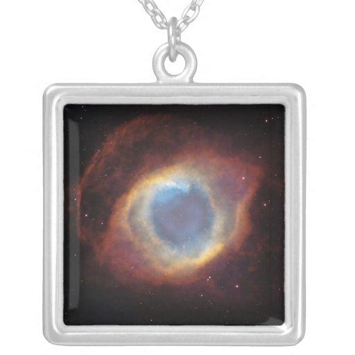 Helix Nebula Square Pendant Necklace