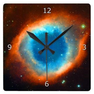 Helix Nebula Square Wall Clock