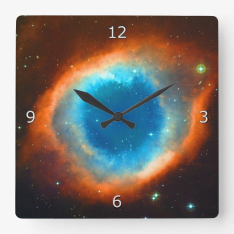 Helix Nebula Square Wall Clock