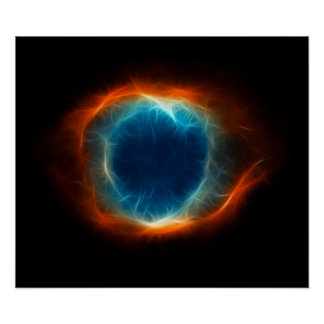 Helix Nebula Star Space Cloud Poster
