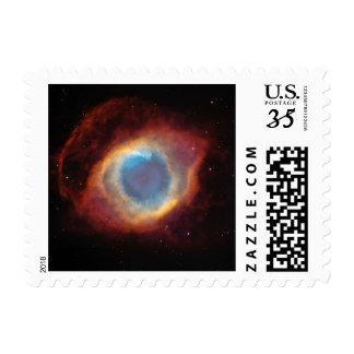 Helix Nebula Stars Planetary Fog Universe Stamp
